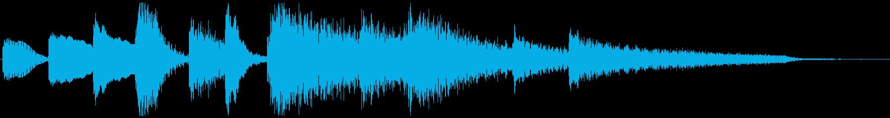 ピアノのプレーンなジングル 5秒の再生済みの波形