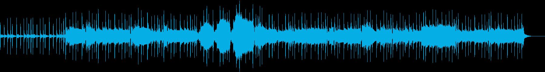 フェイザーを用いたポップな楽曲の再生済みの波形