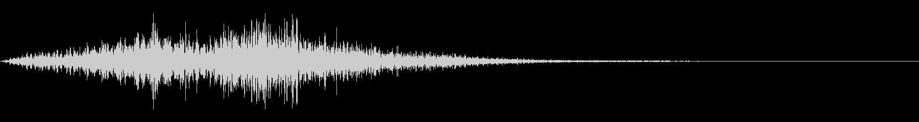 怒っているフラッターフーシュ3の未再生の波形