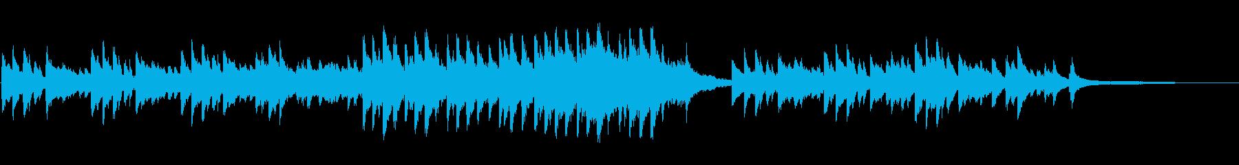 穏やかな風景のシーンに合うBGMの再生済みの波形