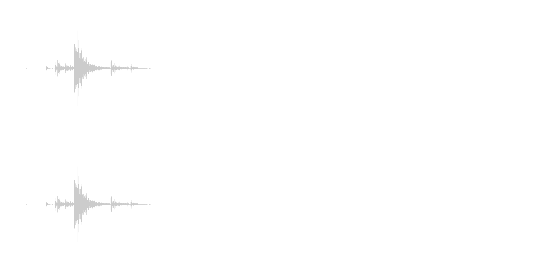 鳴子01-2の未再生の波形