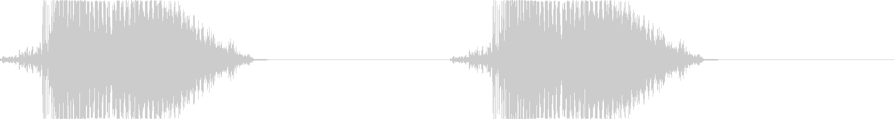 攻撃-1 打撃音 パンチ キックの未再生の波形