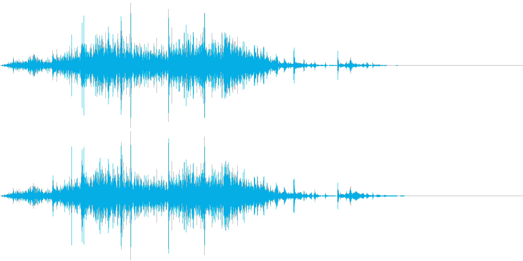 【生録音】 ビニール袋のノイズ ゴミ箱音の再生済みの波形