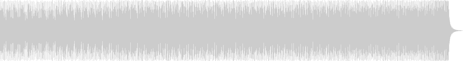 EDM直結、ダンサブルでクールなビートの未再生の波形