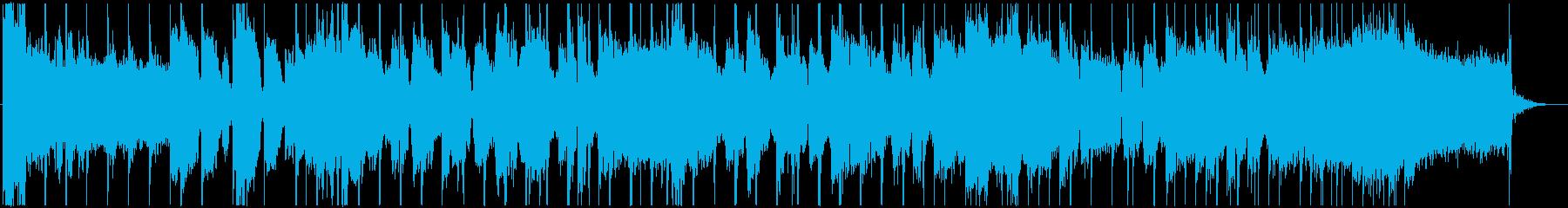 ロックでリズミカルなオープニング用の曲の再生済みの波形
