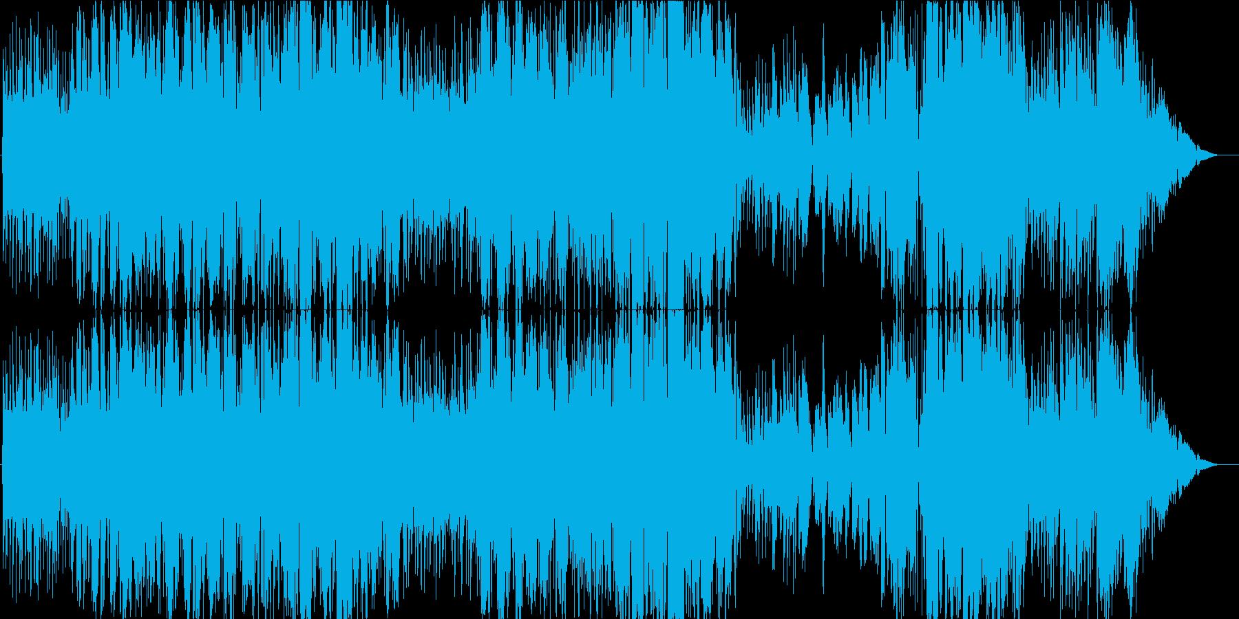 爽やかで前向きな女性ボーカルのポップスの再生済みの波形