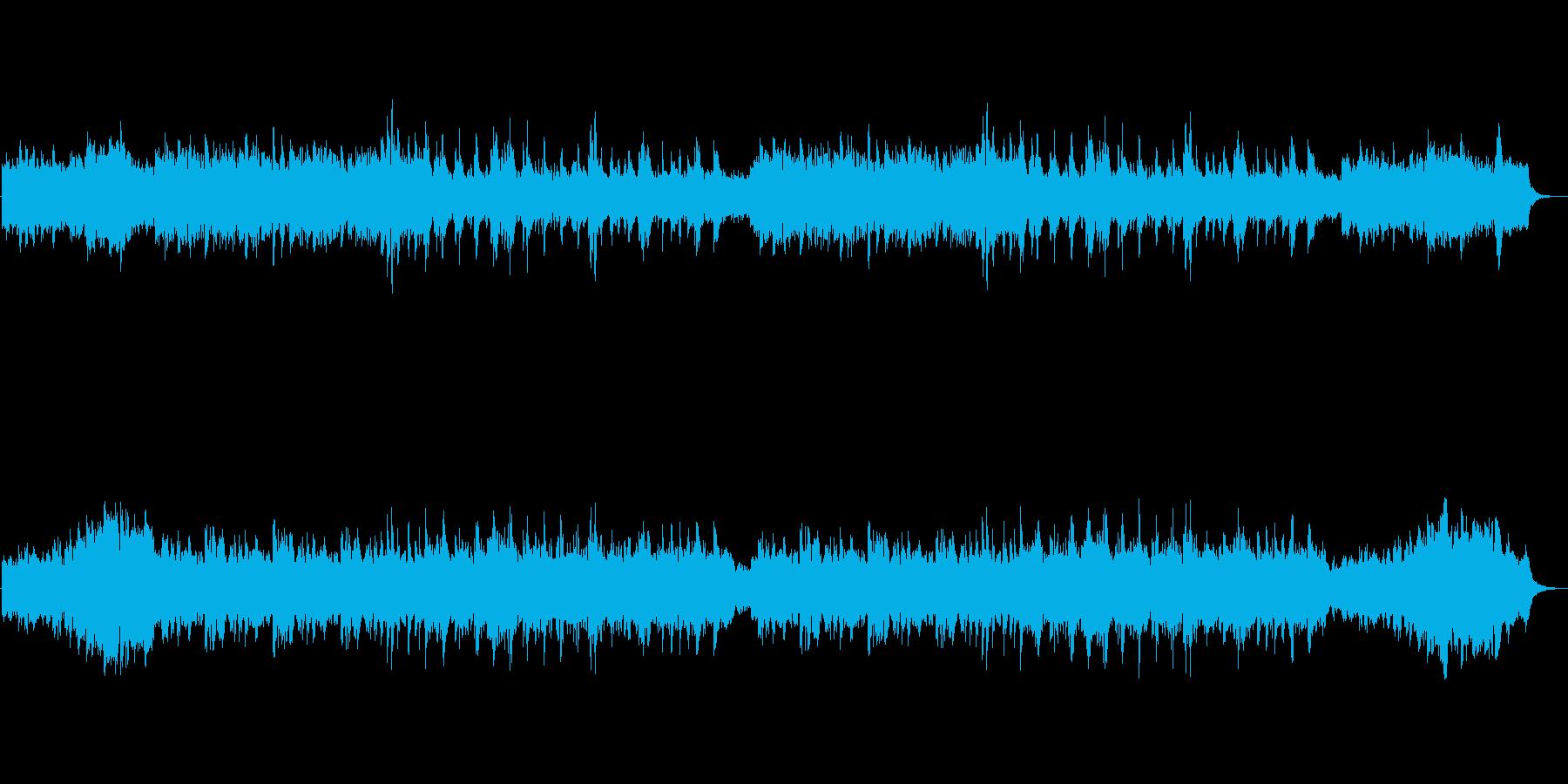 ピアノとシンセとオルゴールの癒しのBGMの再生済みの波形
