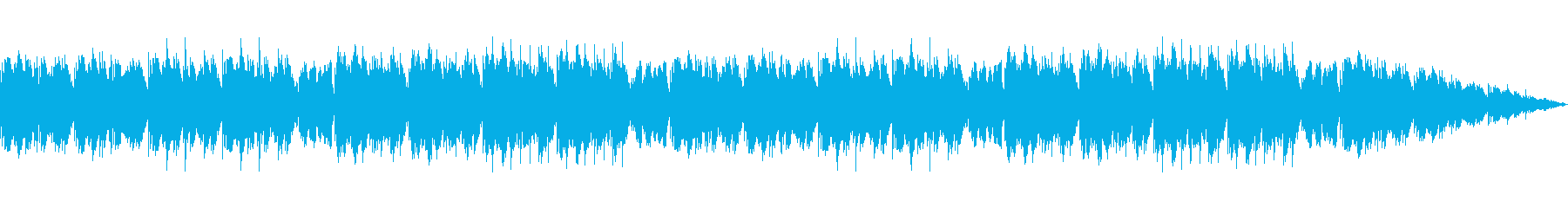 落ち着いた音色で思い出を振り返るBGMの再生済みの波形