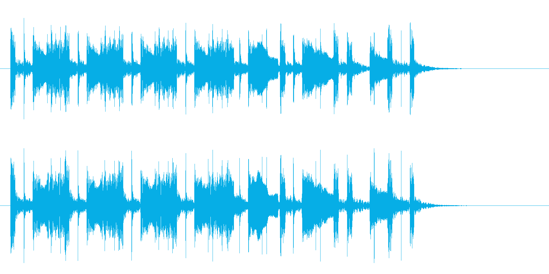 ウッドベースのシャッフルビート。の再生済みの波形