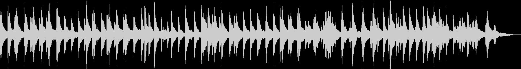平和的な雰囲気の広がりのあるピアノソロの未再生の波形