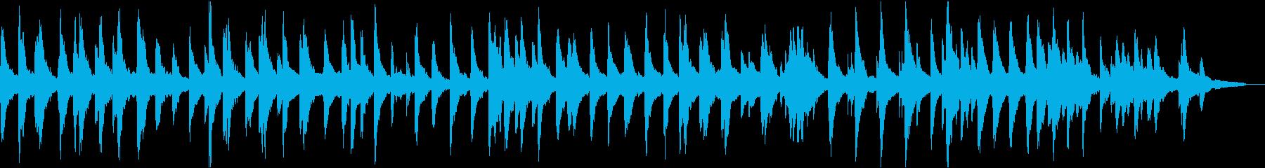 平和的な雰囲気の広がりのあるピアノソロの再生済みの波形