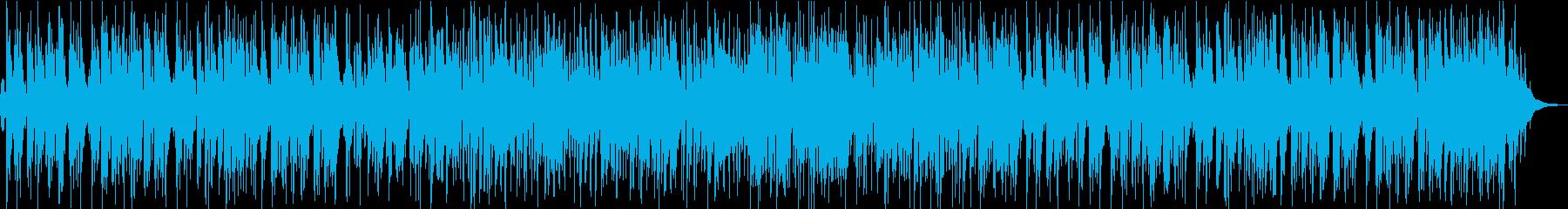 おしゃれで軽快なアップテンポピアノトリオの再生済みの波形