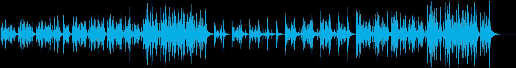 カジュアルで優しいマリンバ系BGMの再生済みの波形