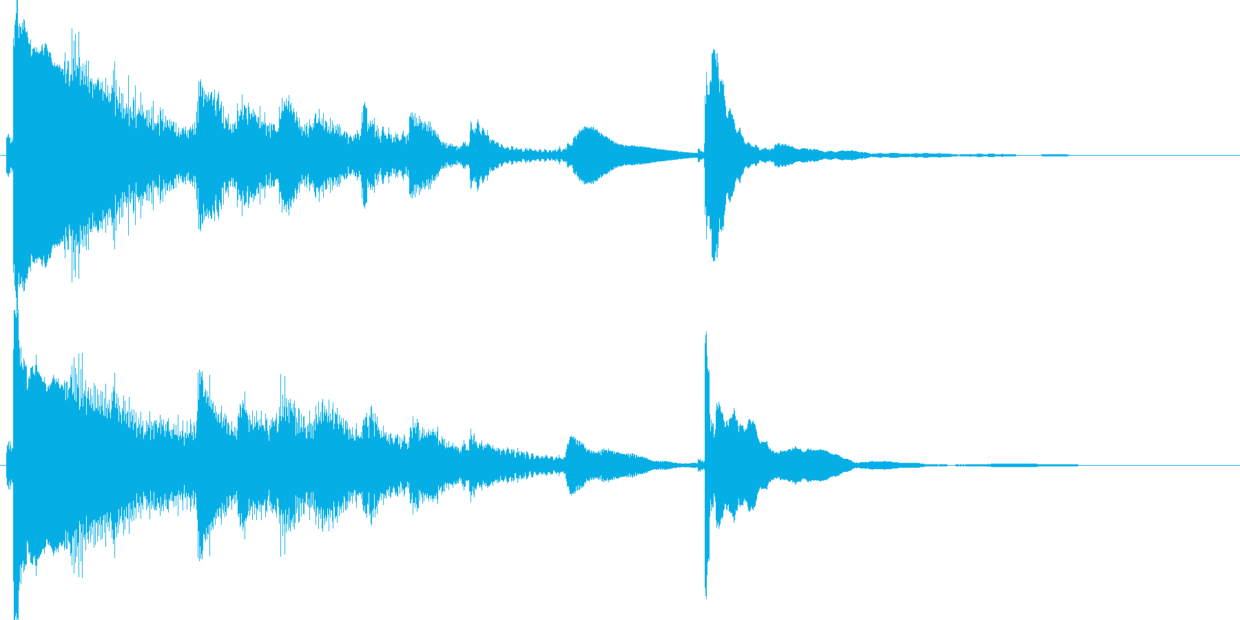 和楽器 琴 和風ジングルに 高音質!2の再生済みの波形