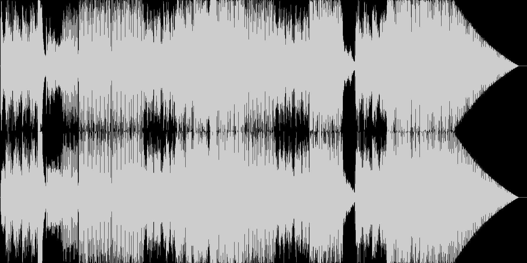 エレクトロニクス、ミニマリスト。電...の未再生の波形