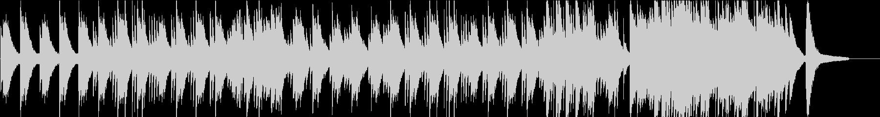 落ち着いたソロピアノのバラードの未再生の波形