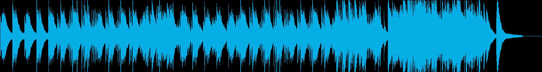 落ち着いたソロピアノのバラードの再生済みの波形