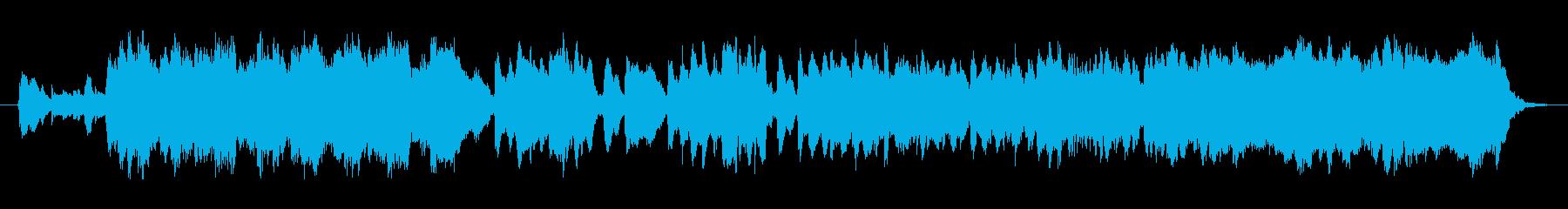 ストリングスと木管楽器が特徴の明る...の再生済みの波形