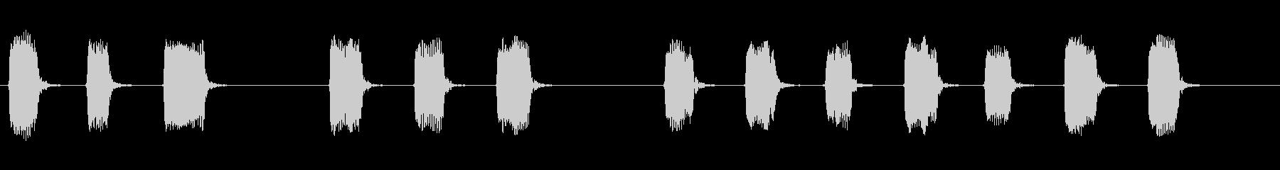 応援 大会 運動会  三三七拍子 笛のみの未再生の波形