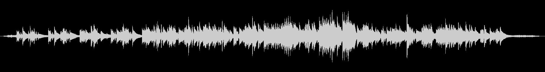 ピアノソロ 鳥と虫の音の未再生の波形