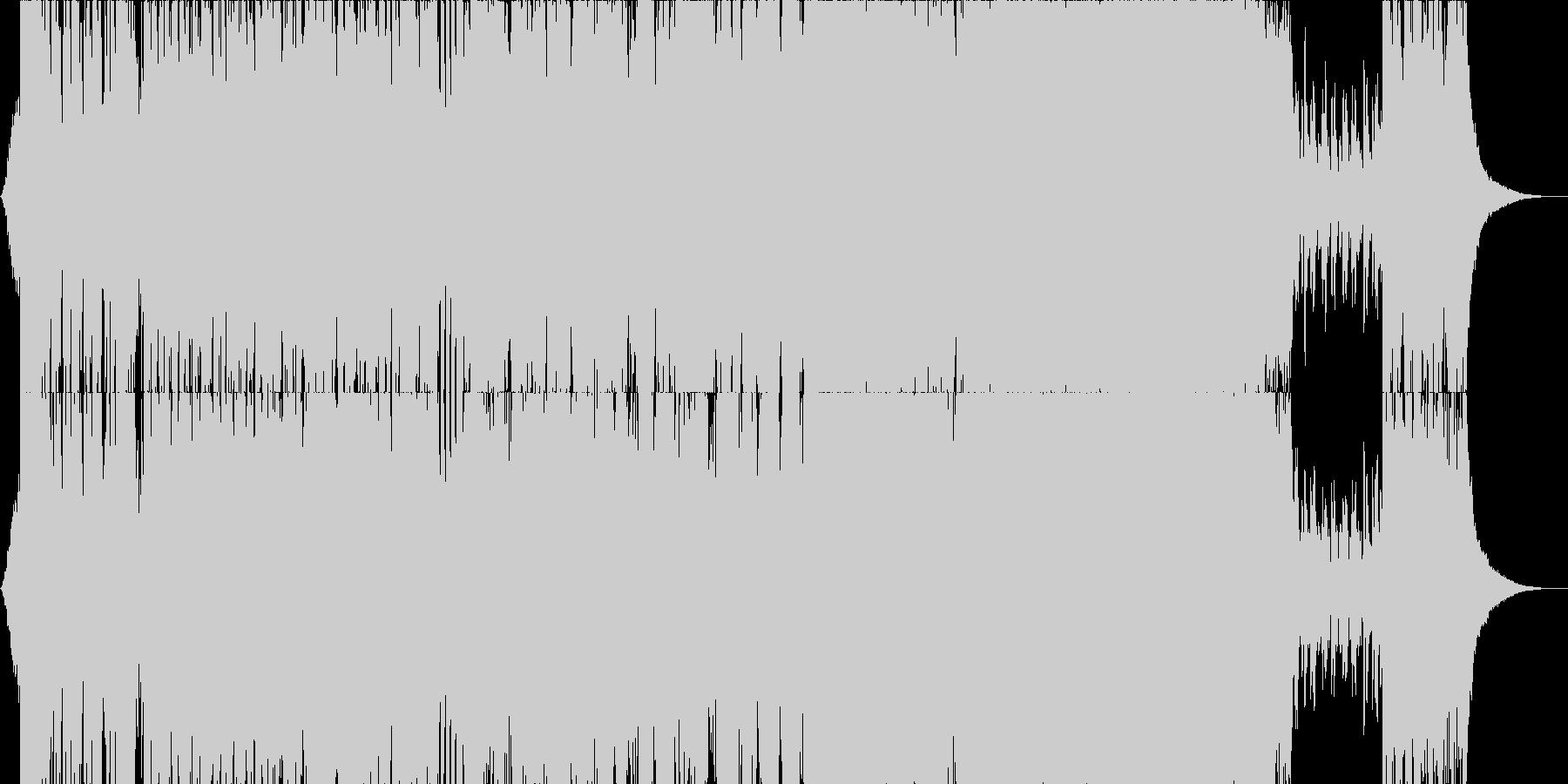 管弦打楽器の織り成す疾走感のある戦闘曲の未再生の波形