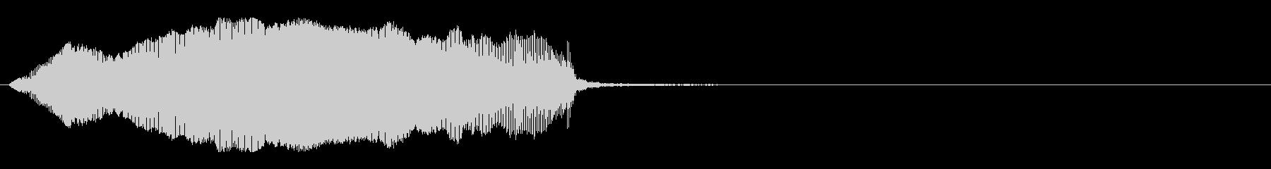猫の赤ちゃんの鳴き声 (単発) B-6の未再生の波形
