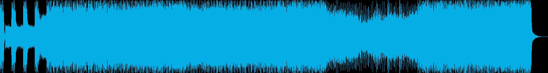 キャッチ―で明るいビートのロックソングの再生済みの波形