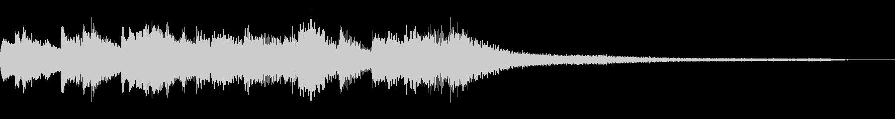 和風のジングル7-ピアノソロの未再生の波形