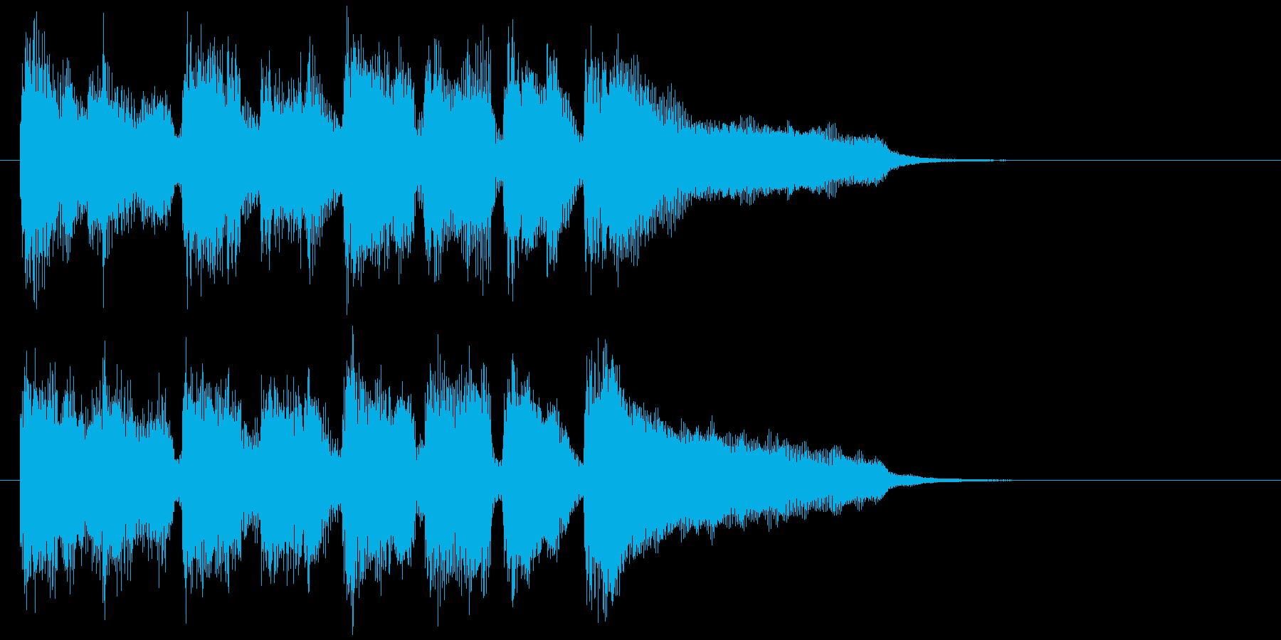 ブラス系の高揚感ある爽快なサウンドロゴの再生済みの波形