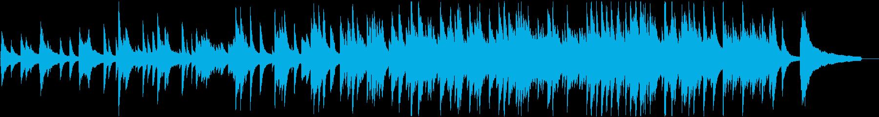 癒し系のゆったりしたピアノ曲です。の再生済みの波形