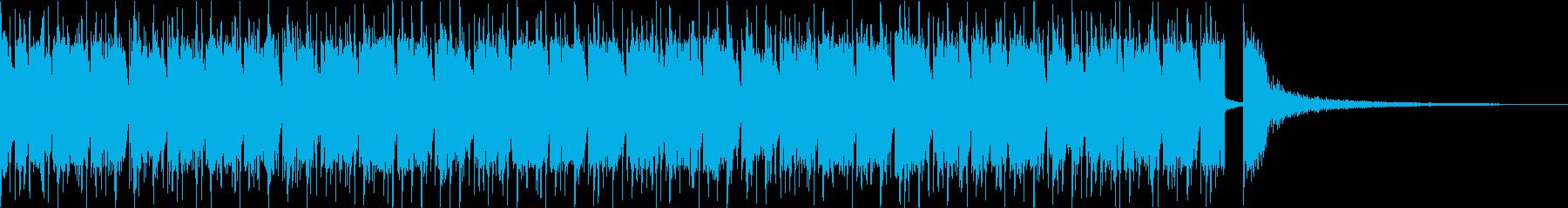 三味線+鼓 疾走感和風80'sエレクトロの再生済みの波形