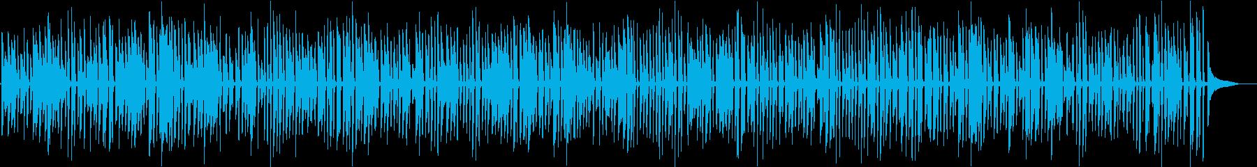 レトロなラグタイムソロジャズピアノの再生済みの波形