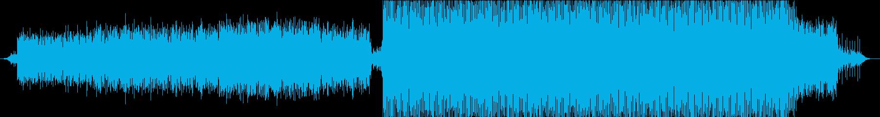 浮遊感のある序盤〜エレクトロに展開する曲の再生済みの波形