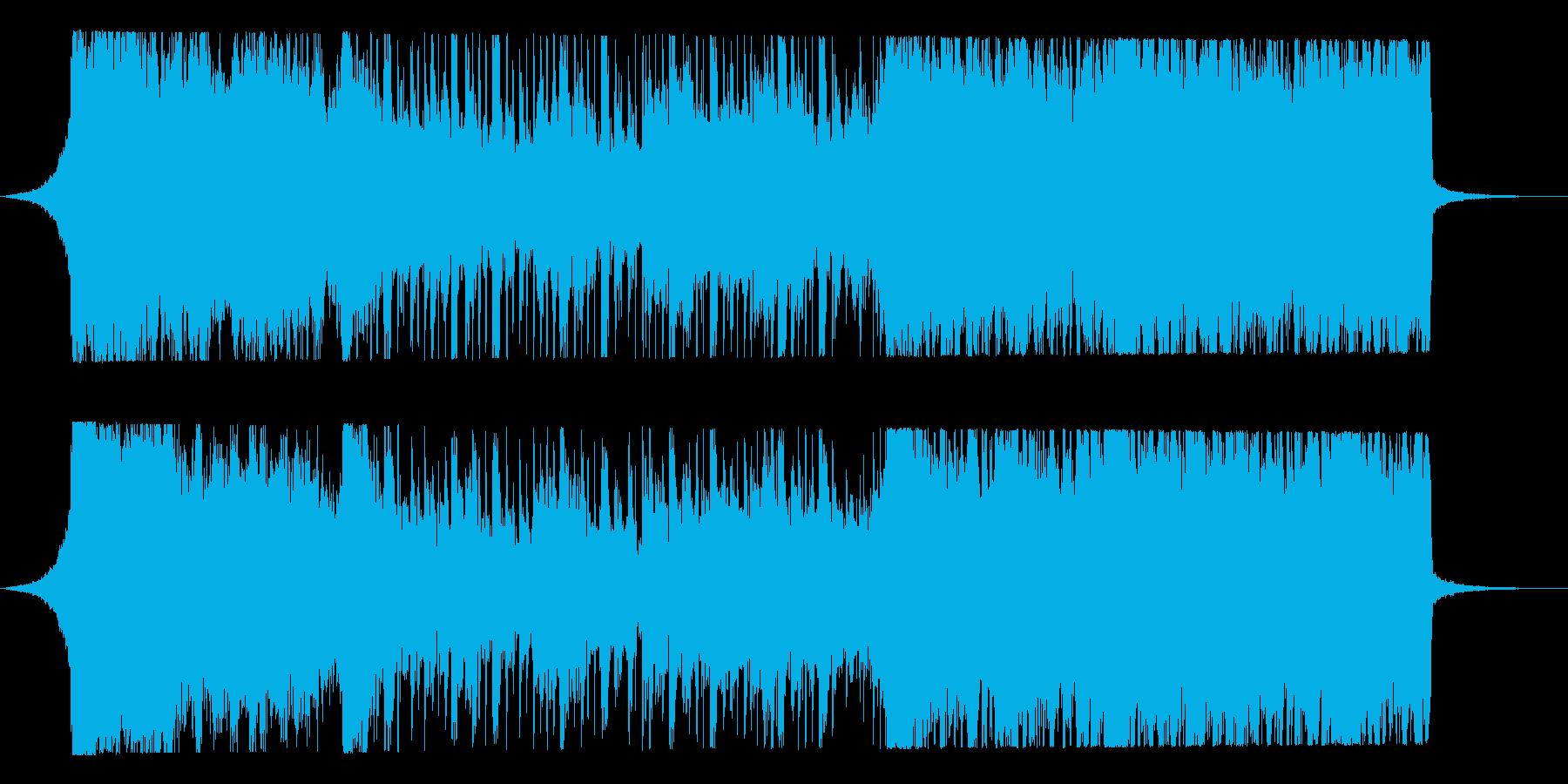 荘厳なシンセオーケストラの再生済みの波形
