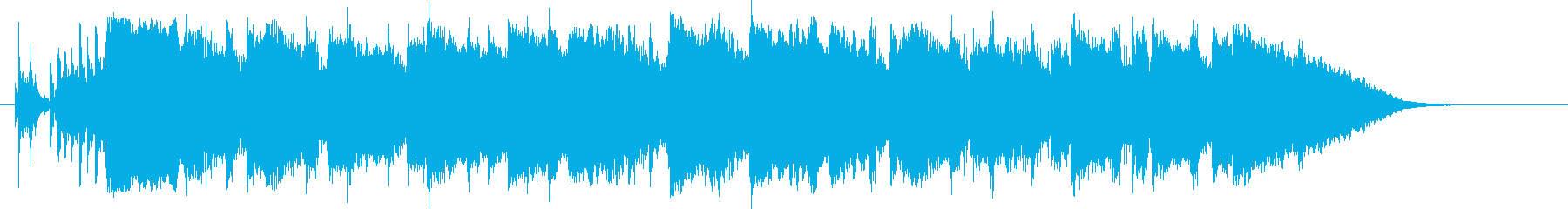 ギターインストのロックバラードの再生済みの波形