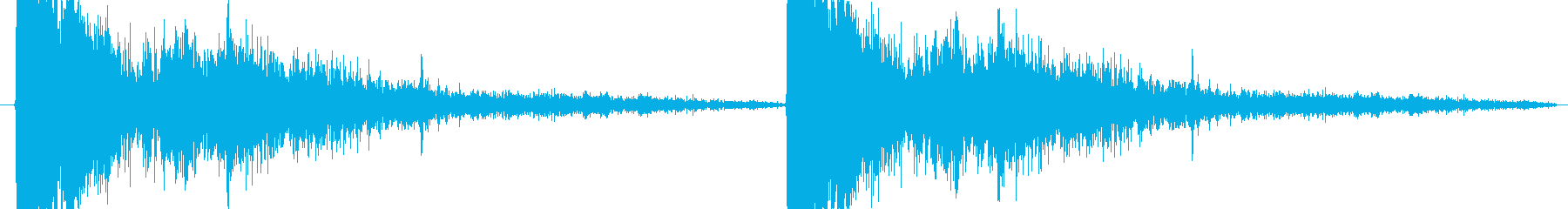 スナイパーライフル系の発砲音の再生済みの波形