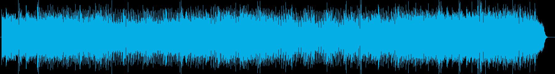 シンセサイザーの軽快で爽やかなポップスの再生済みの波形