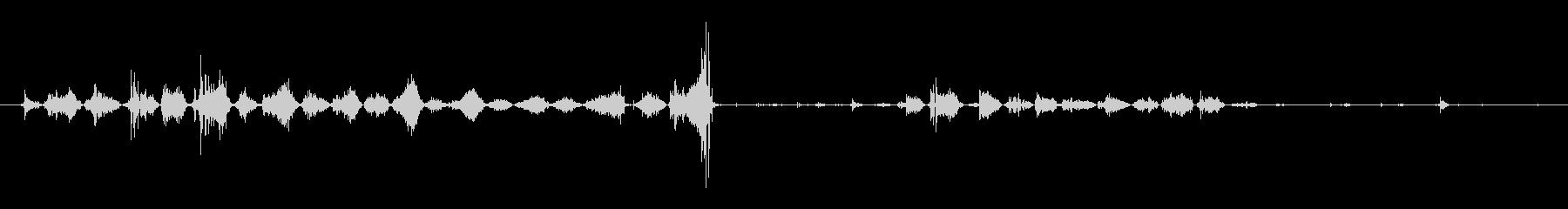 犬 パグパンツスマック01の未再生の波形