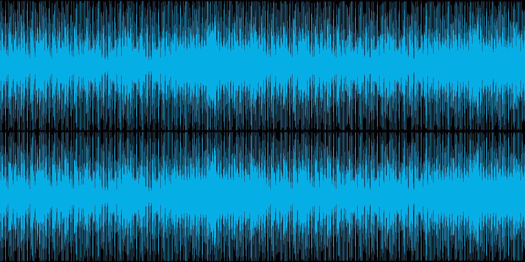 三味線使用和風ヒップホップインストループの再生済みの波形