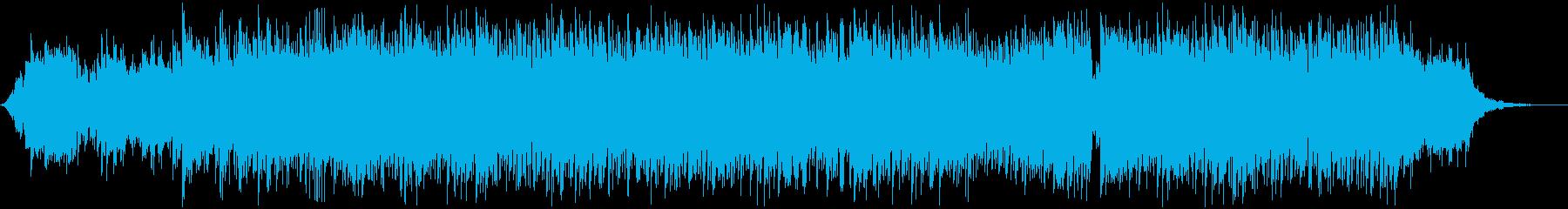 爽やかでおしゃれな雰囲気のEDMの再生済みの波形
