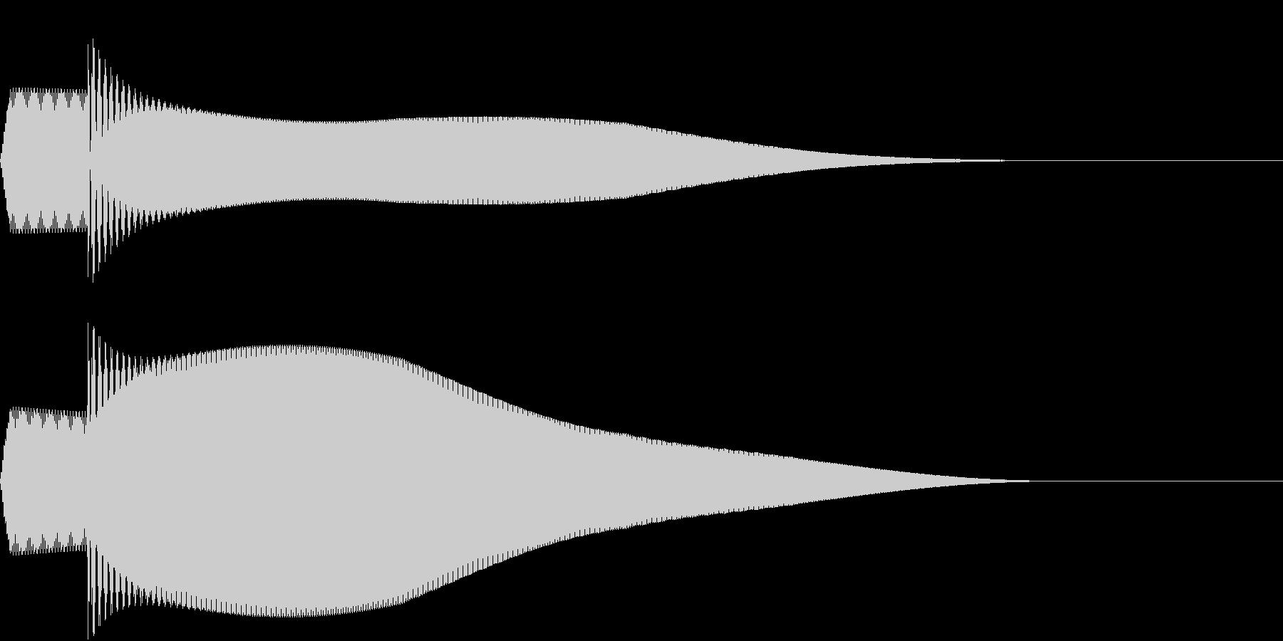 ピコーン(決定した時の音)の未再生の波形