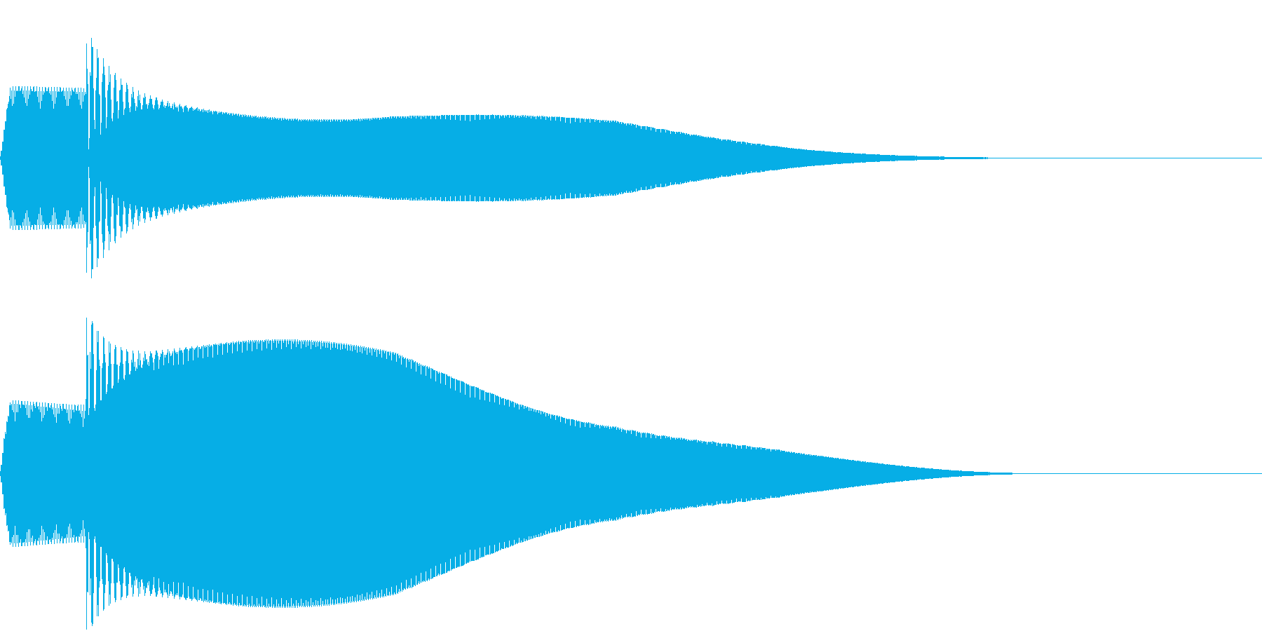 ピコーン(決定した時の音)の再生済みの波形