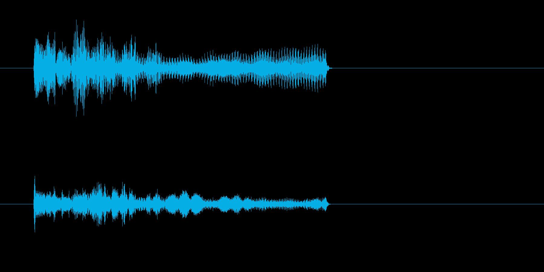ティリリリリー/オルガン音、死亡、失敗音の再生済みの波形