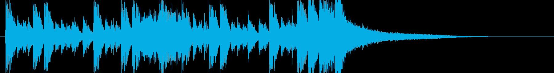 かわいいベルうきうきポップ日常ジングルaの再生済みの波形