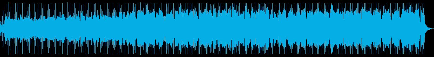 ザクザクギターのスピード感ある8ビートの再生済みの波形
