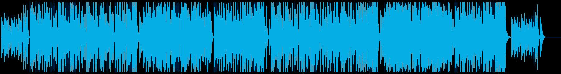 ボサノバ風ポップスの再生済みの波形