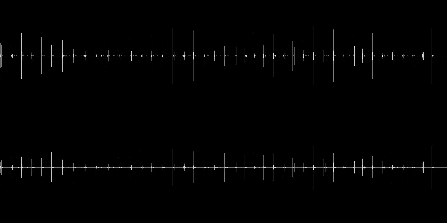 女性、スローウッドの足音、女性の足音の未再生の波形