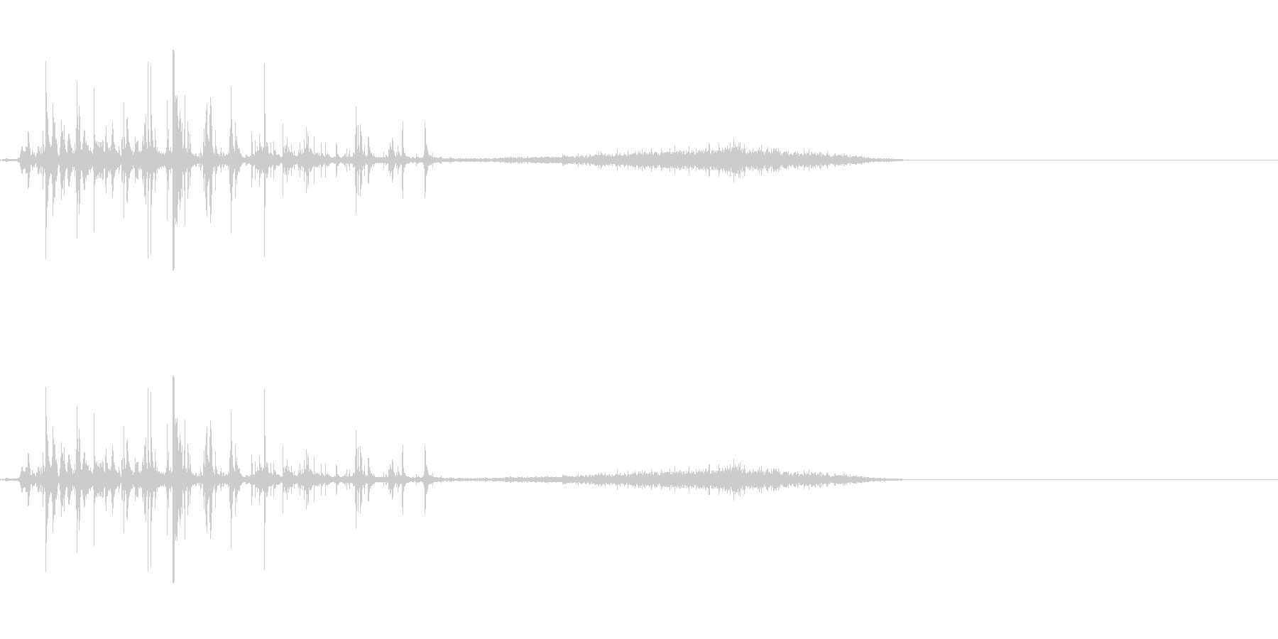 炭酸系 注ぐ音の未再生の波形