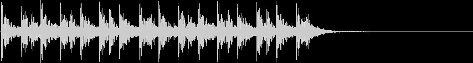 ドンドコドンドコ…(和太鼓、リズム)の未再生の波形