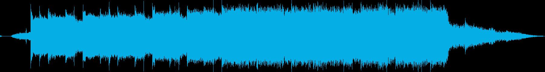 神秘的で壮大なメロディーの再生済みの波形